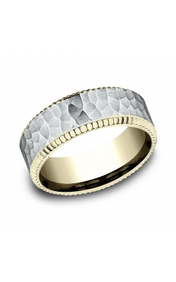 Benchmark Two Tone Comfort-Fit Design Wedding Ring CF18837614KWY07 product image