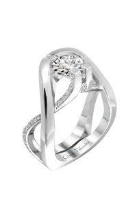 Claude Thibaudeau European Micro-Pave Engagement Ring PLT-1884-MP product image
