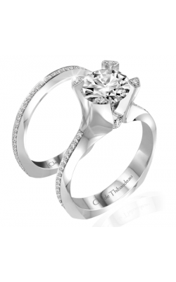 Claude Thibaudeau La Royale Engagement Ring PLT-10038-MP product image