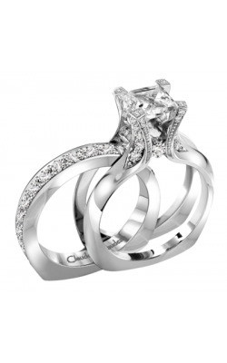 Claude Thibaudeau European Micro-Pave Engagement ring PLT-1908-MP product image