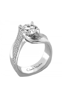 Claude Thibaudeau European Micro-Pave Engagement Ring PLT-1872-MP product image
