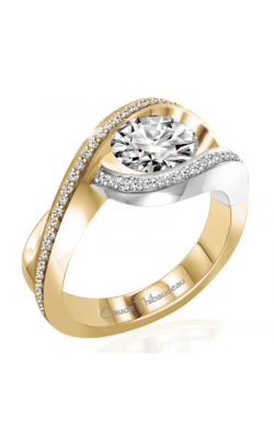Claude Thibaudeau European Micro-Pave Engagement Ring PLT-263-MP product image