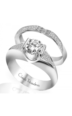 Claude Thibaudeau European Micro-Pave Engagement Ring PLT-1497-MP product image