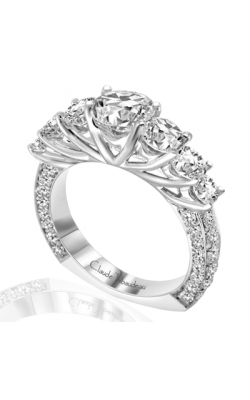 Claude Thibaudeau European Micro-Pave Engagement Ring PLT-1762-MP product image