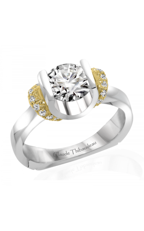 Claude Thibaudeau European Micro-Pave Engagement ring PLT-1859-MP product image