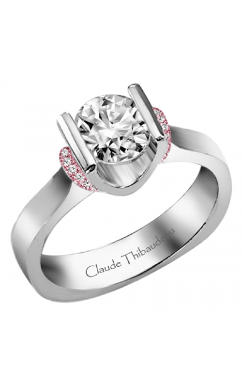 Claude Thibaudeau European Micro-Pave Engagement ring PLT-1859R-MP product image