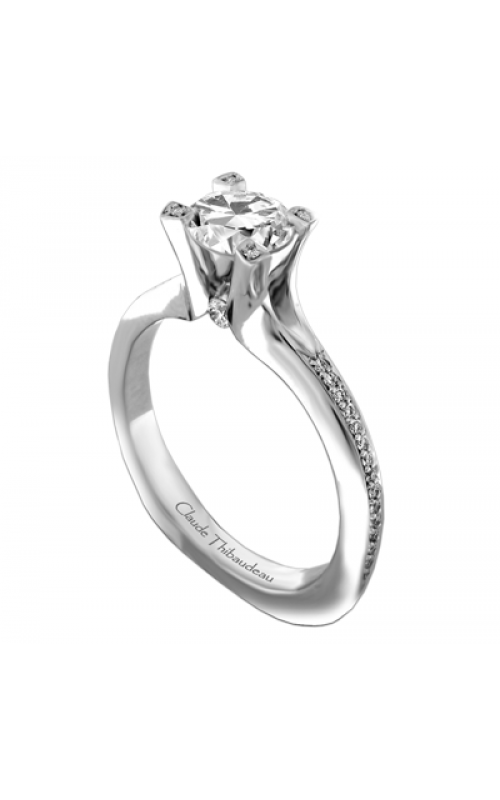 Claude Thibaudeau European Micro-Pave Engagement ring PLT-1898-MP product image