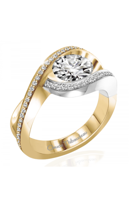 Claude Thibaudeau European Micro-Pave Engagement ring PLT-263-MP product image