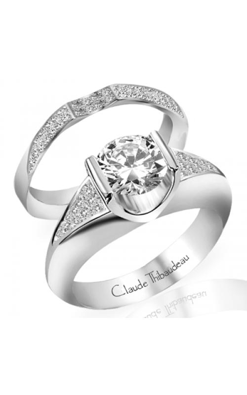 Claude Thibaudeau European Micro-Pave Engagement ring PLT-1271-MP product image