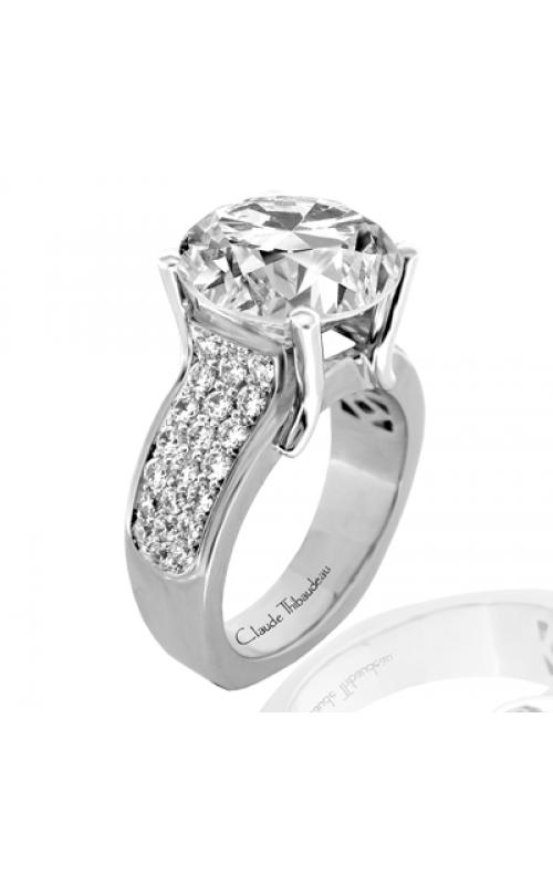 Claude Thibaudeau European Micro-Pave Engagement ring PLT-1778-MP product image