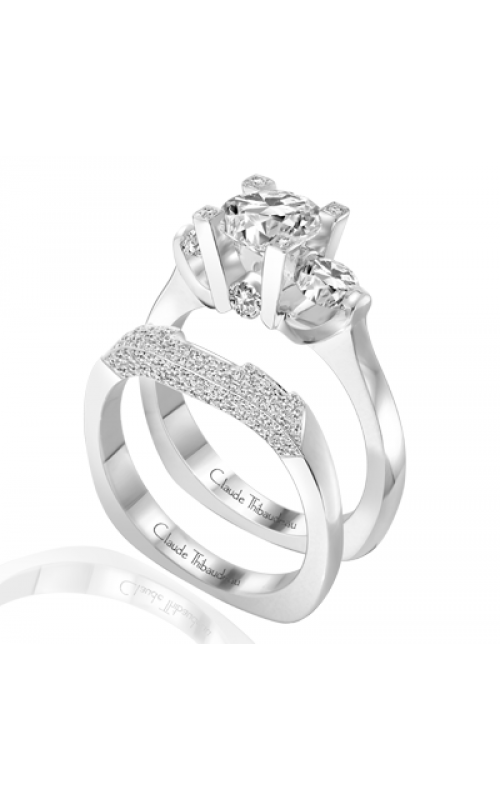 Claude Thibaudeau European Micro-Pave Engagement ring PLT-1781 product image