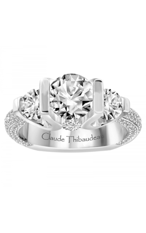 Claude Thibaudeau European Micro-Pave Engagement ring MODPLT-1802-MP product image