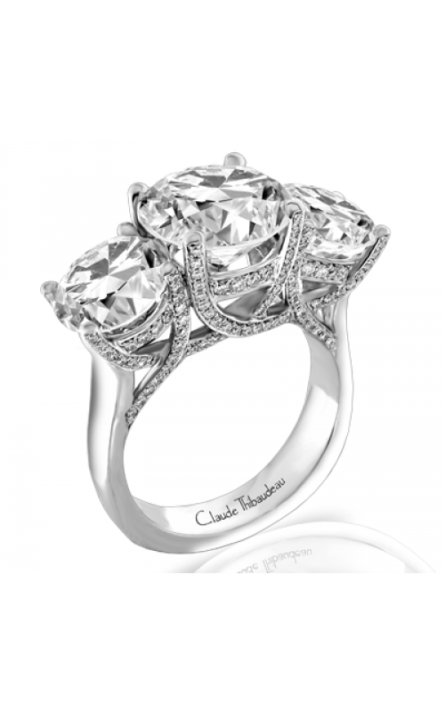 Claude Thibaudeau European Micro-Pave Engagement ring PLT-1818-MP product image