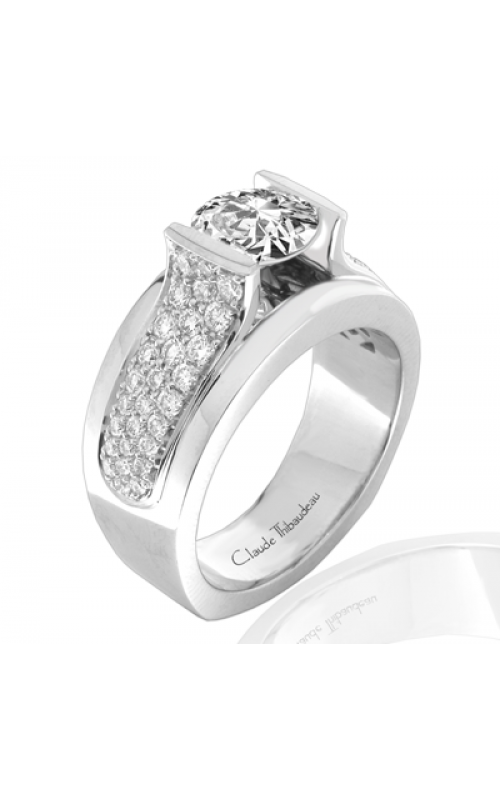 Claude Thibaudeau European Micro-Pave Engagement ring PLT-1823-MP product image