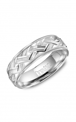 CrownRing Carved Wedding band WB-8073 product image
