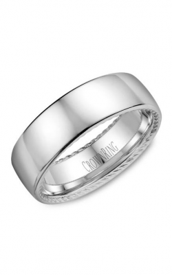 Crown Ring Men's Wedding Band WB-012R7W product image