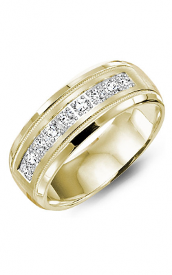 Crown Ring Men's Wedding Band WB-9083Y product image