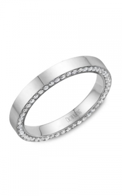 Crown Ring Men's Wedding Band WB-033D3W product image