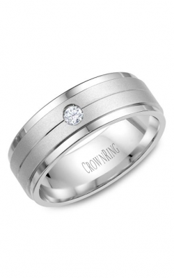 Crown Ring Men's Wedding Band WB-7108 product image