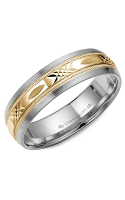 CrownRing Classic And Carved Wedding Band WB-7000YW product image