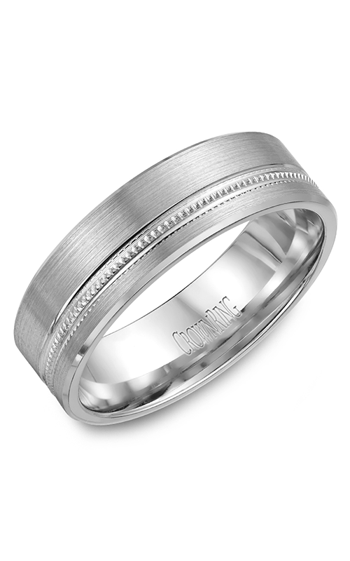 CrownRing Carved Wedding band WB-7919 product image