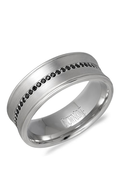 CrownRing Diamond Wedding band WB-9615W product image