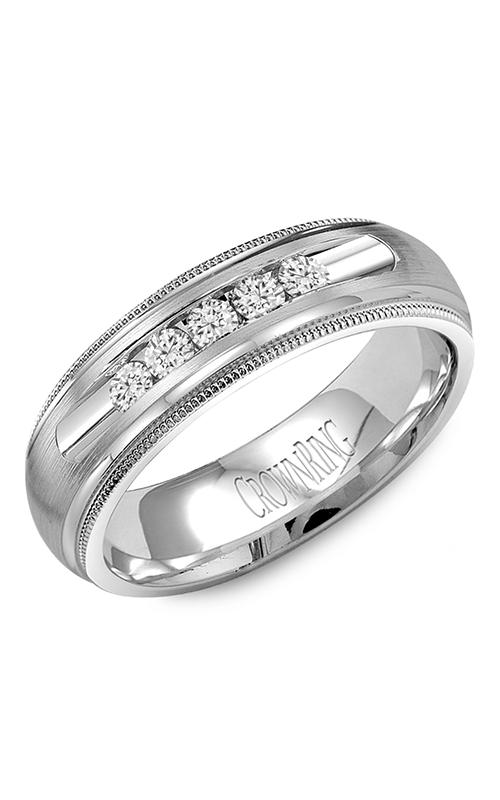 CrownRing Diamond Wedding band WB-9816 product image