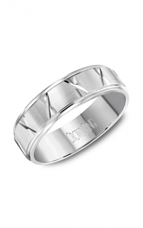 CrownRing Carved Wedding band WB-8062 product image