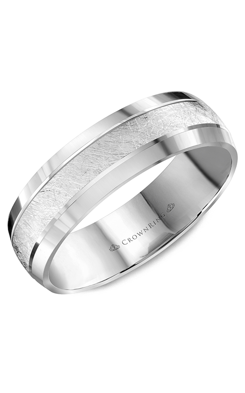CrownRing Carved Wedding band WB-8064 product image