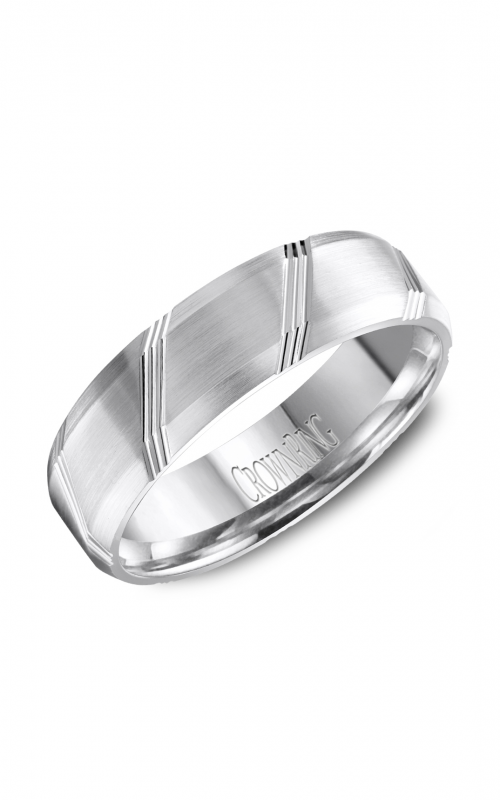 CrownRing Carved Wedding band WB-8070 product image