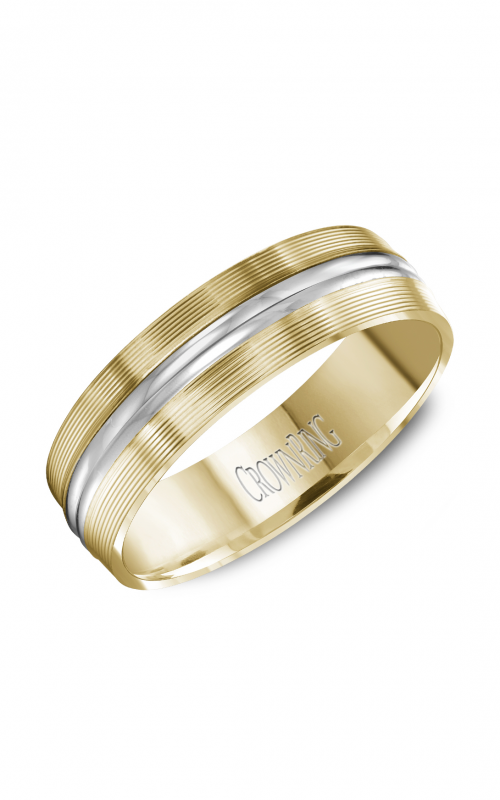 CrownRing Carved Wedding band WB-8087 product image