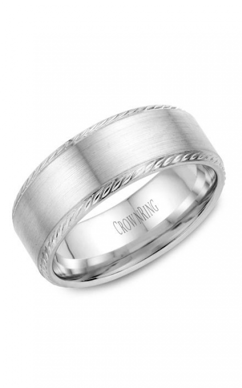 CrownRing Rope Wedding band WB-011R8W product image