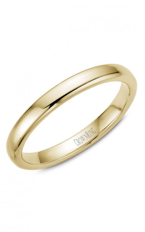 CrownRing Traditional Wedding band TDS14Y3 product image