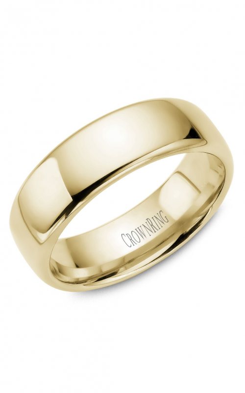 CrownRing Traditional Wedding band TDS14Y7 product image