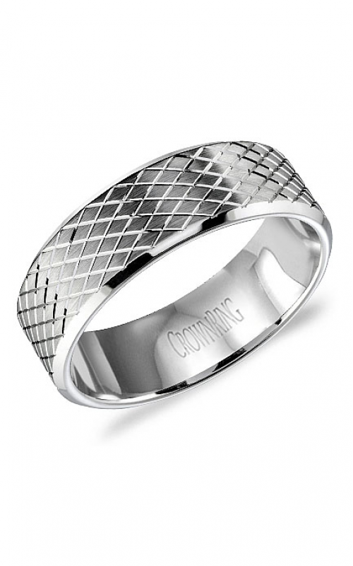 CrownRing Carved Wedding band WB-9572 product image