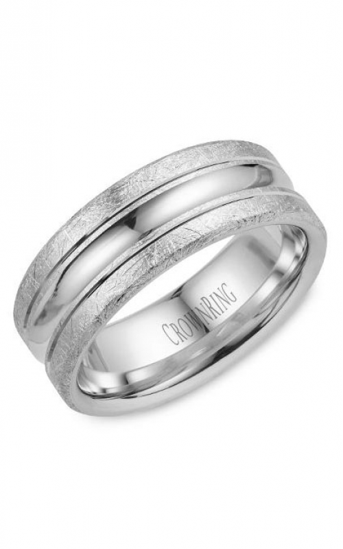CrownRing Carved Wedding band WB-024C8W product image