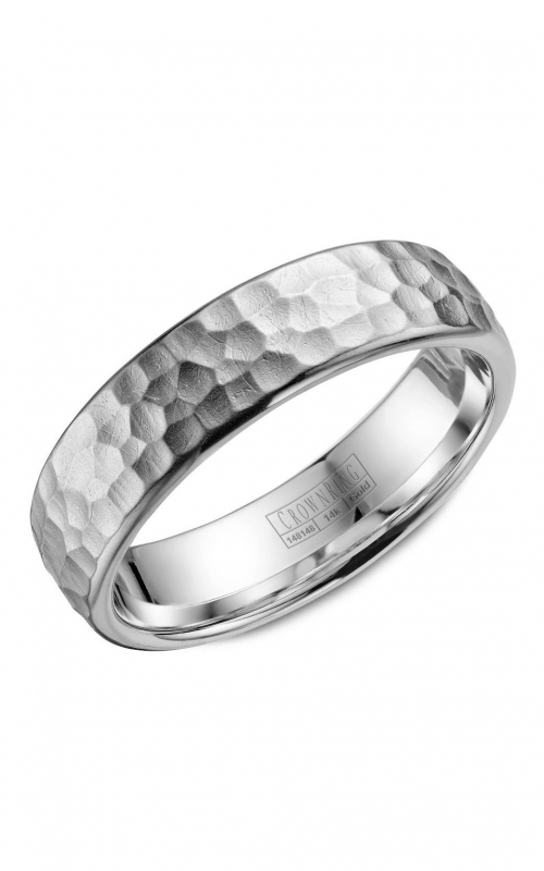 CrownRing Carved Wedding band WB-038C6W product image