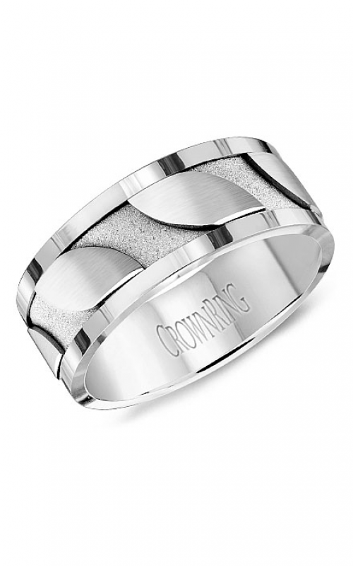 CrownRing Carved Wedding band WB-8042 product image
