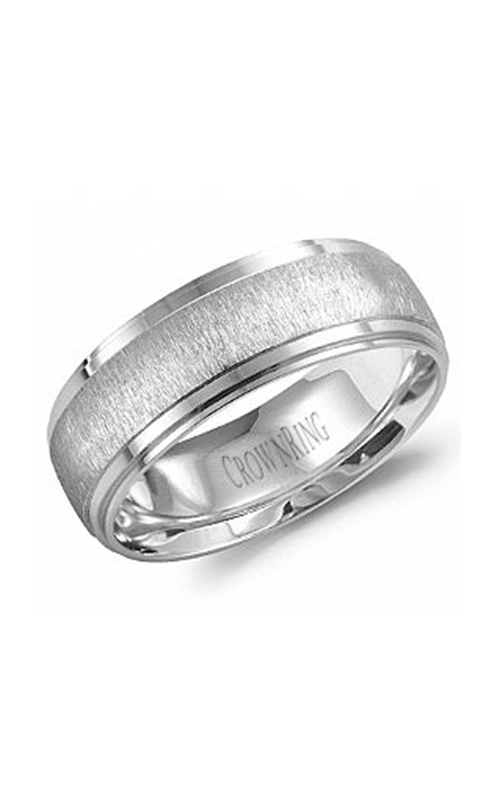 CrownRing Carved Wedding band WB-9967 product image