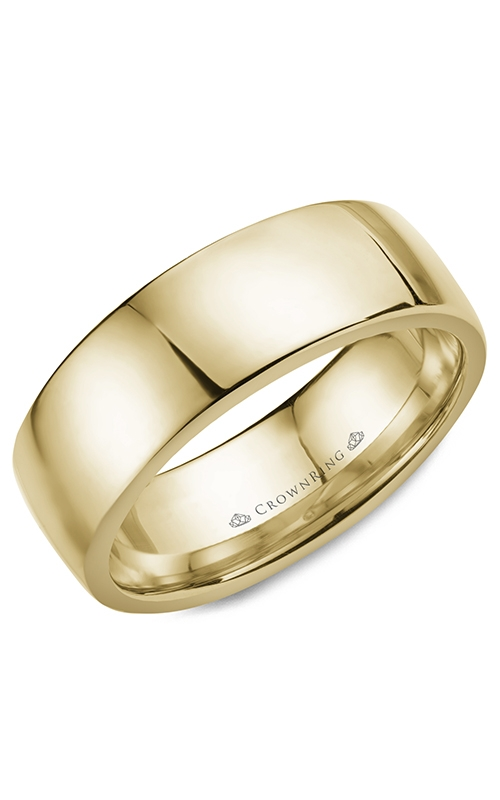CrownRing Classic and Carved Wedding band WB-053C8Y product image