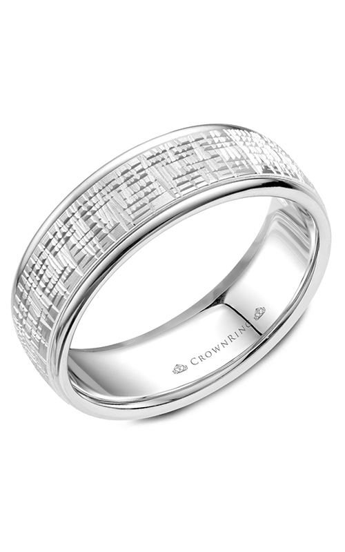 CrownRing Classic and Carved Wedding band WB-057C7W product image