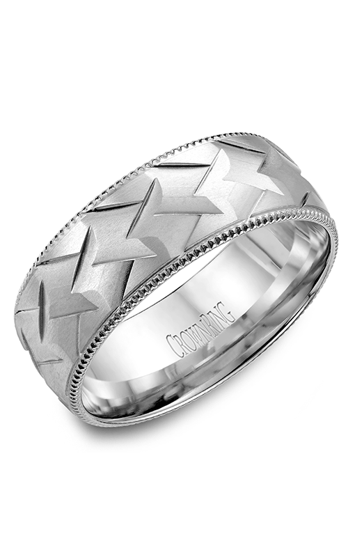 Crown Ring Men's Wedding Band WB-7912 product image