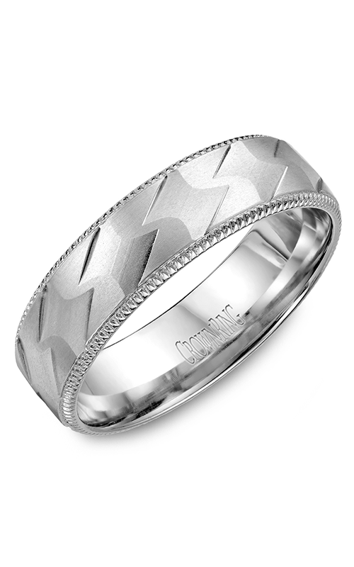 Crown Ring Men's Wedding Band WB-7913 product image