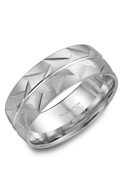 CrownRing Classic and Carved Wedding Band WB-7916 product image