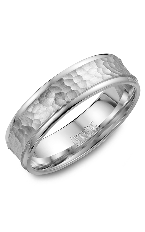 CrownRing Classic and Carved Wedding Band WB-7918 product image