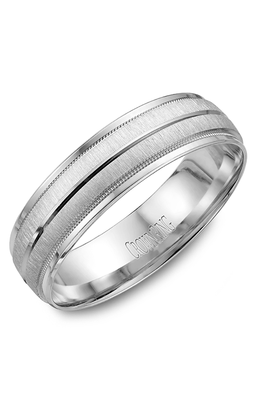 CrownRing Classic and Carved Wedding Band WB-7933 product image