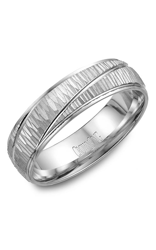 Crown Ring Men's Wedding Band WB-7936 product image
