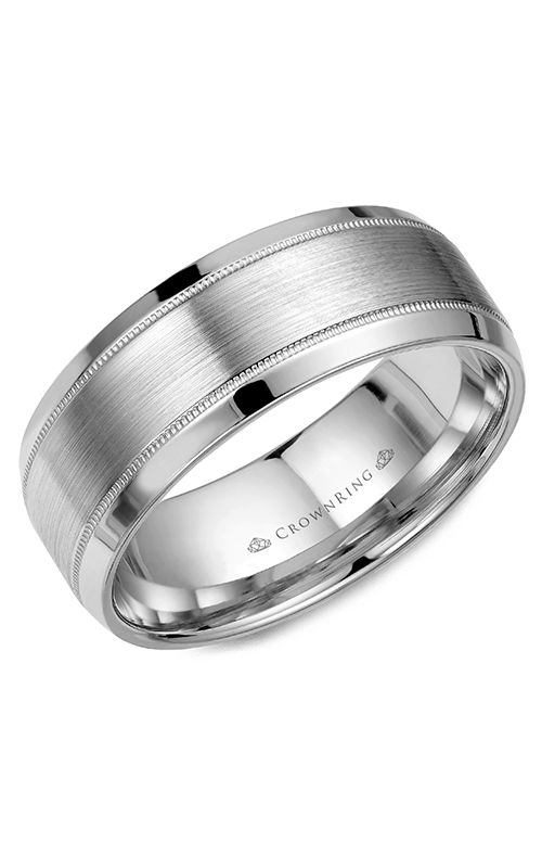 Crown Ring Men's Wedding Band WB-8108 product image