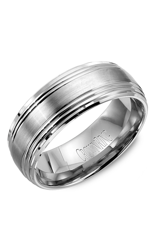 Crown Ring Men's Wedding Band WB-9052 product image
