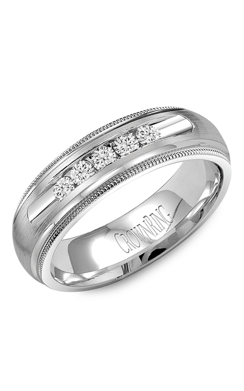 Crown Ring Men's Wedding Band WB-9816 product image